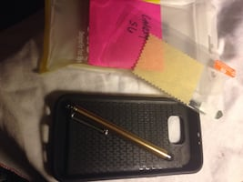 Galaxy S6 Case with bumper Case Scribe and Screen Protector New