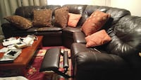 black leather sectional recliner sofa Gaithersburg, 20879