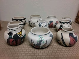 Taos pottery by A. Varos or A Turning