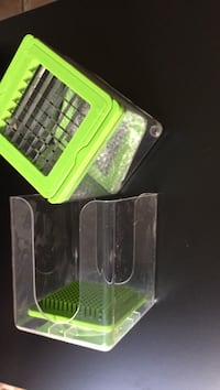 Square green plastic container Catharpin, 20143