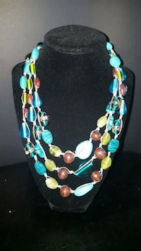 blue, red, and green beaded necklace Toronto, M9V 1A5