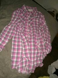 pink and white plaid button-up shirt Pacific, 63069