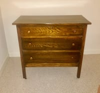 Oak 3 drawer dresser Gainesville, 20155