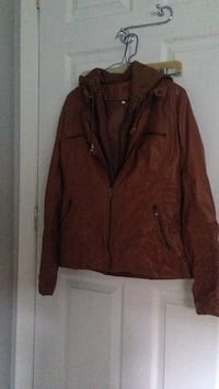 brown zip-up jacket 786 km