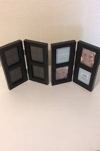 2 Hinged Photo Frames--For 8 Pictures