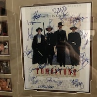 Framed TOMBSTONE mini poster signed by cast