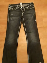 black denim straight cut jeans Edmonton, T6T 0S8