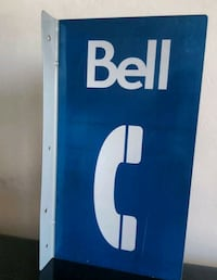 Bell Canada flanged double sided reflective sign Toronto, M5R 2E6