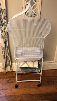 Bird cage with stand  null