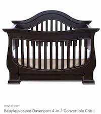 Baby Appleseed 4 in 1 convertible sleigh bed/crib Huntersville, 28078