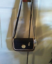 black and white MK leather crossbody bag Rogers, 72758