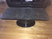 Two coffee tables black and gray lacquer with glass protection  Montréal, H1G 2G4