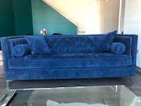 blue fabric sofa with throw pillows Glendale, 91203