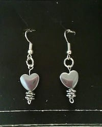 pair or silver with heart earrings Spring Hope, 27882