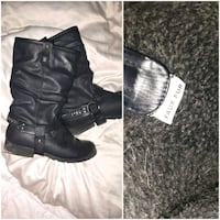 pair of black leather boots West Kelowna, V4T 1X7