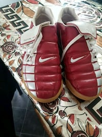 pair of red-and-white Nike basketball shoes Leicester, LE5 3SP