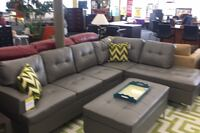 Grey Sectional w/ Ottoman(NEW)  Norfolk, 23502