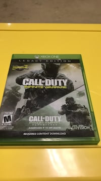 Call of Duty Infinite Warfare Xbox One game case Fairfax Station, 22039