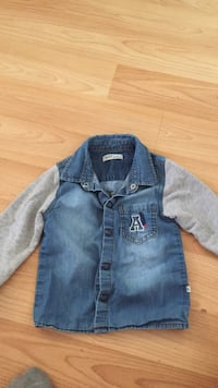 18 months Aziz Baby blue and gray denim jacket Vancouver, V6Z 2W3