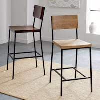 2 West Elm Counter Stools