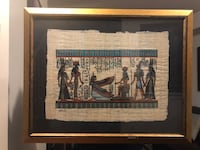 Handmade Egyptian Painting with Frame  Markham, L3R