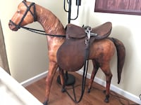 Leather horse and saddle  Elverson, 19520
