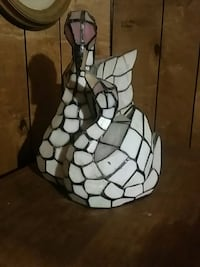 Stained glass Swan night light