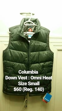 black Columbia down vest