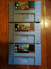 Donkey kong country 1 2 3 snes Vancouver, V5W 2Y9