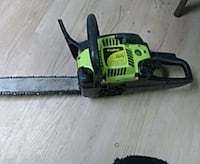 black and green Poulan chainsaw Holiday, 34690