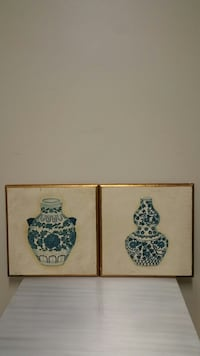 "TWO 18"" square WALL PLAQUES - $20 for both (price is firm) - Sold as a pair only. Arlington, 22204"