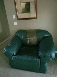 Sealy Green Leather chair Salem