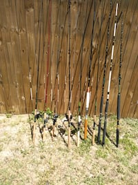 assorted color fishing rod lot Holiday, 34690