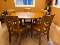 Solid Oakcustom designed and built dining table and 5 chairs. Sits up to 6 people.  Mississauga, L4X 1B4