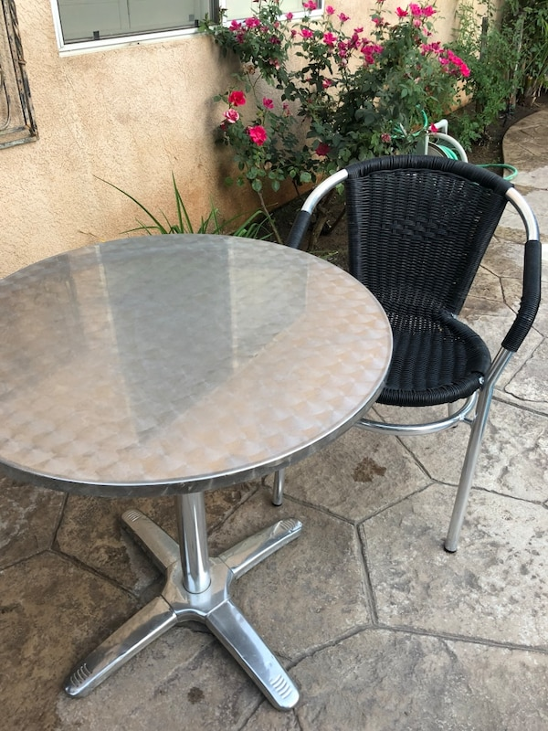 Metal Cafe Style Tables And Chairs