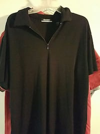 black zip up collared shirt Pittsburgh, 15229