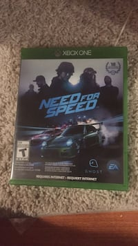 Need for Speed Xbox One game case Newmarket, L3X 2R6