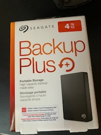 External hard drive by Seagate 4TB