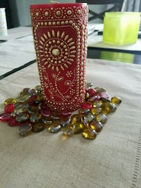 Beaded candle with matching stones Omaha, 68122
