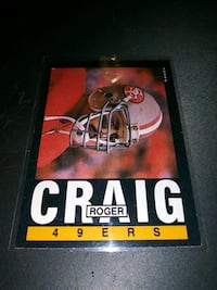 1985 TOPPS ROGER CRAIG FOOTBALL CARD EX CONDITION Upper Darby, 19026