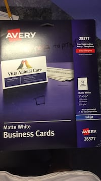 Avery Matte Business Cards Milton, 32583