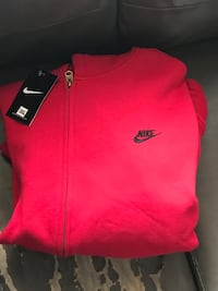 Red and black nike outfit