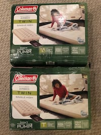 Two x Coleman soft plush top, inflated quickbed twin  Toronto, M3A 3E6