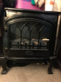 Black electric fireplace with flames hight low option Silver Spring, 20903