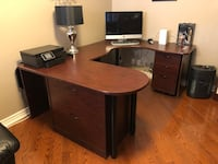 Corner desk with filing cabinet  Brampton, L7A 3S6