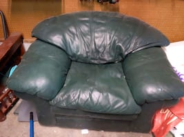 Green large armchair