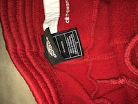 Red and white adidas track pants Essa, L0M