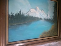 painting of river with brown wooden frame Modesto, 95351