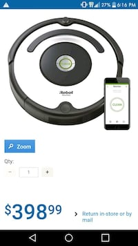 black and white iRobot Roomba vacuum cleaner Leduc, T9E 6K5