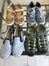 4 pair of boys  natural leather sandals. Primigi and Richter company size 4 and  Naturino and Toms-size 4.5 Sunny Isles Beach, 33160